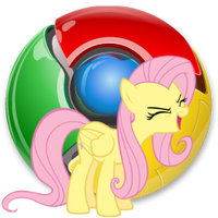 Chrome icon - fluttershy by spikeslashrarity