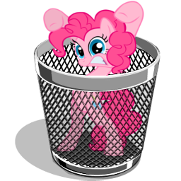 Trash icon - pinkie pie by spikeslashrarity
