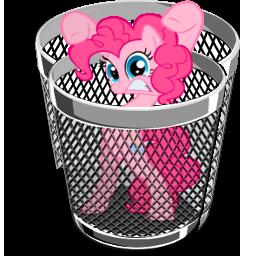 Trash icon - pinkie pie by spikeslashrarity