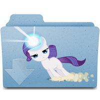 downloads folder- filly rarity by spikeslashrarity