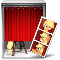 photo booth icon - applejack by spikeslashrarity