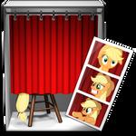 photo booth icon - applejack