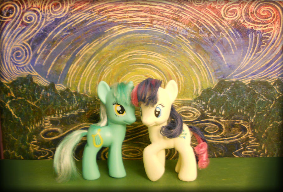 Lyra and Bon bon by spikeslashrarity