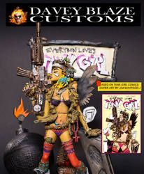 EVERYBODY LOVES TANK GIRL #1 DELUXE ACTION FIGURE by DaveyBlazeCustoms