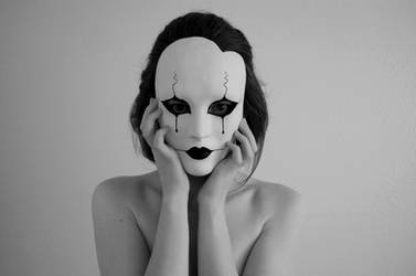 Pierrot Mask by AnotherFaceStudio