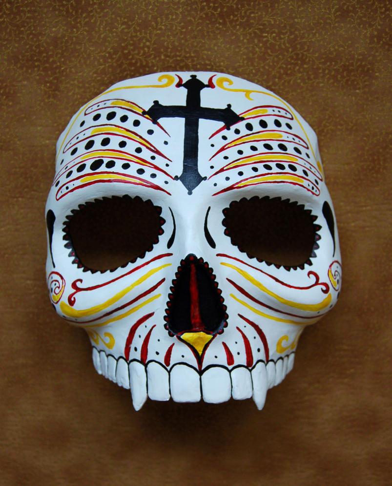 Custom Sugar Skull Mask by AnotherFaceStudio on DeviantArt