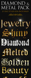 Diamond and Metal - Text Styles by ivelt