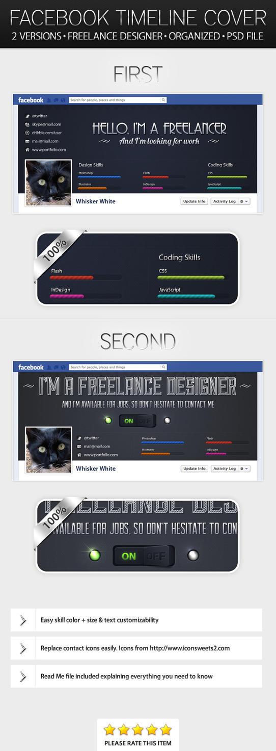 Freelance Designer - Facebook Timeline Cover by ivelt