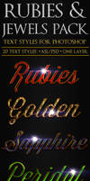 Rubies and Jewels - Text Styles
