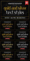 Gold and Silver - Text Styles
