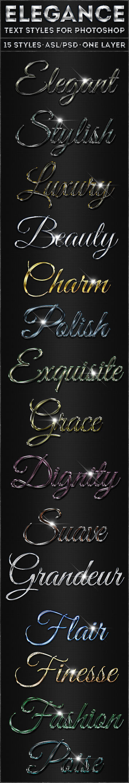 Elegance - Text Styles by ivelt