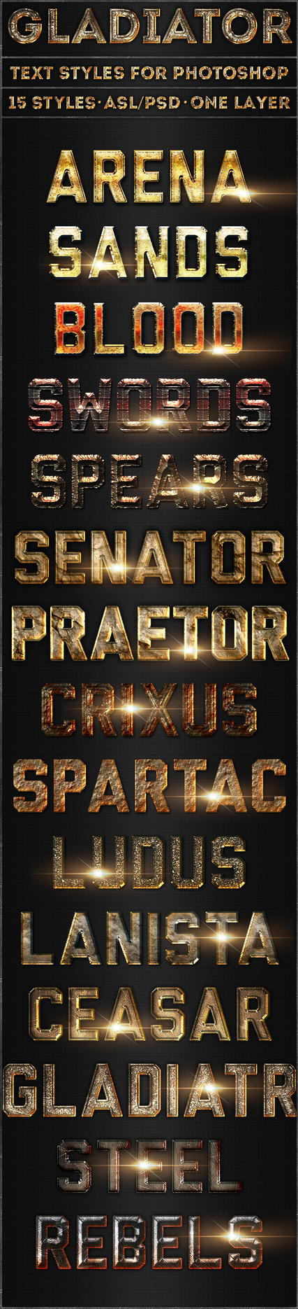 Gladiator - Text Styles by ivelt