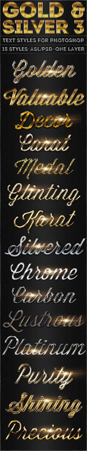 Gold and Silver 3 - Text Styles