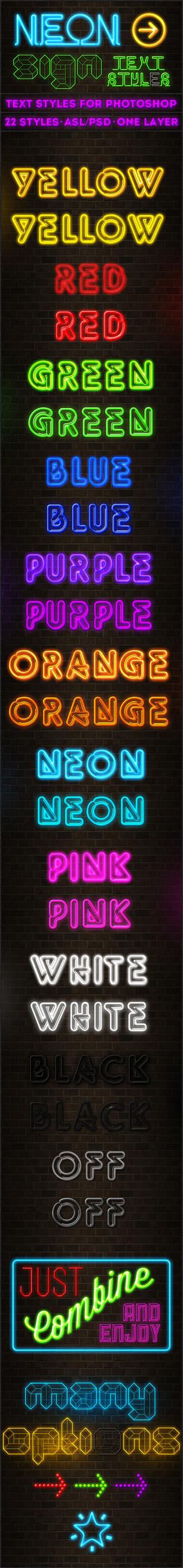 Neon Sign - Text Styles by ivelt