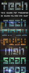 Tech - Text Styles by ivelt
