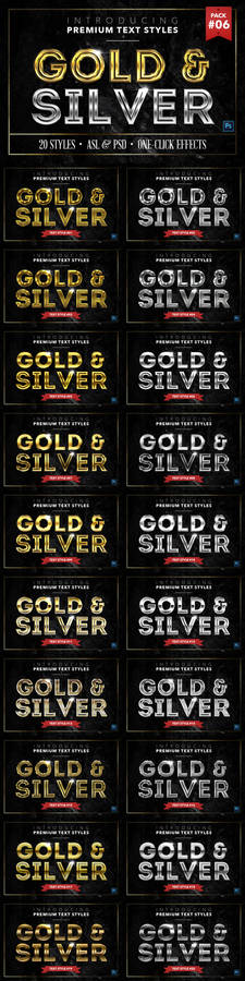 Gold and Silver 6 - Text Styles