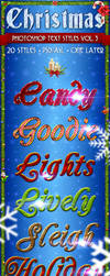 Christmas Pack 3 - Text Styles by ivelt