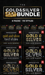 Gold and Silver Text Styles Bundle by ivelt