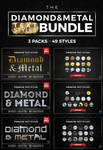 Diamond and Metal Text Styles Bundle by ivelt
