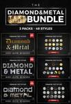 Diamond and Metal Text Styles Bundle