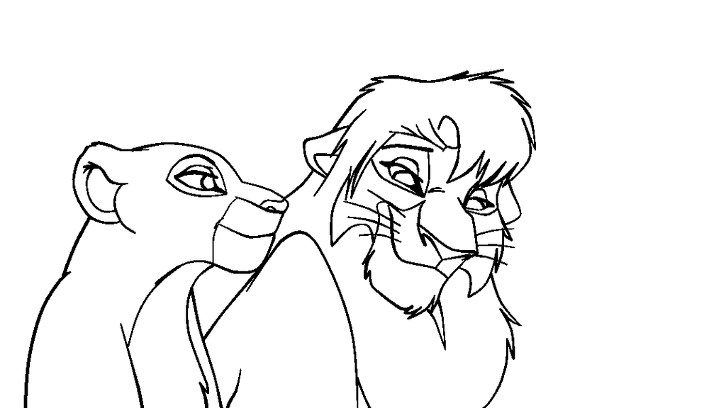 Kovu and baby kiara free coloring pages for Kovu coloring pages