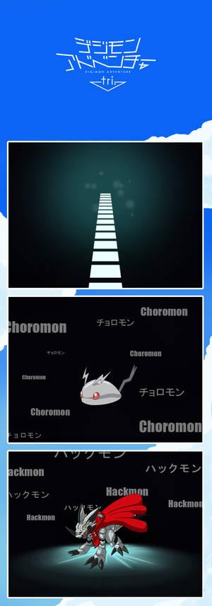 Adventure tri. - Choromon SHINKA Hackmon