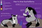 How to draw KuschelGarou