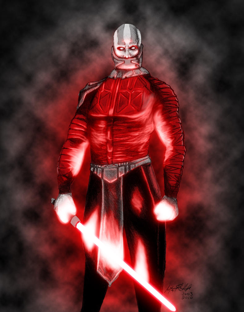 Darth Malak colored by Skullvonavich