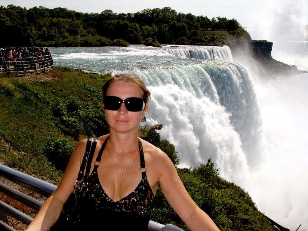 Mira in front of Niagara Falls by KMourzenko
