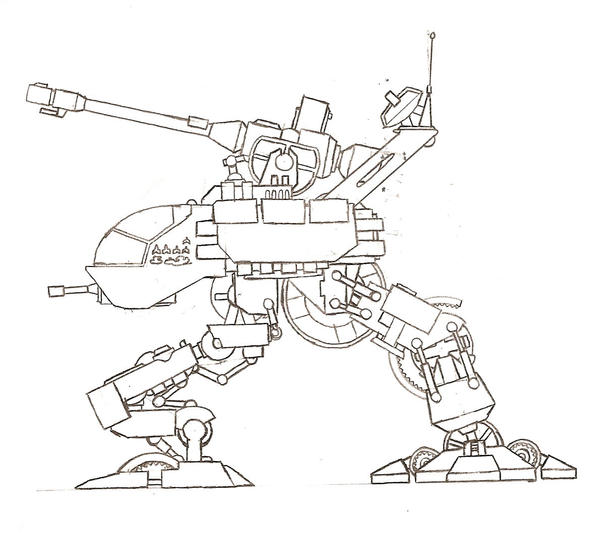 WAR23L3 Light Artillery Walker by DarthCloakedGuy
