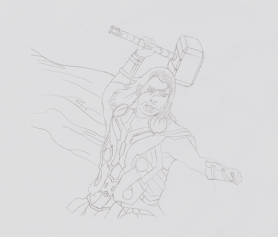 God of Thunder (Rough Draft) by DarthCloakedGuy