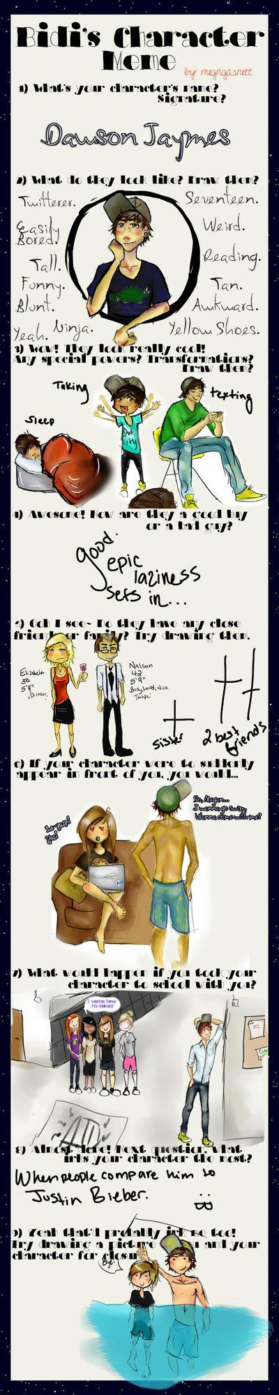 Character Meme - Dawson by megngarnett