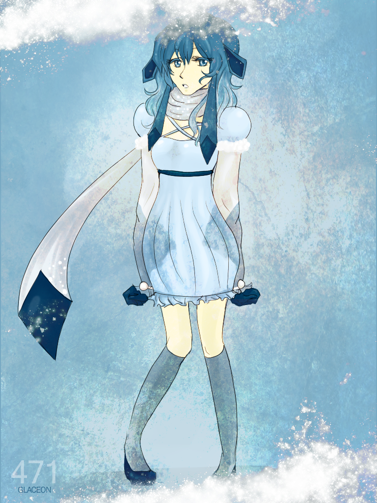 glaceon gijinka by southpoint on DeviantArt