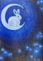 Moon Bunny by katTink
