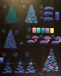 Glowing Christmas Tree Painting Tutorial