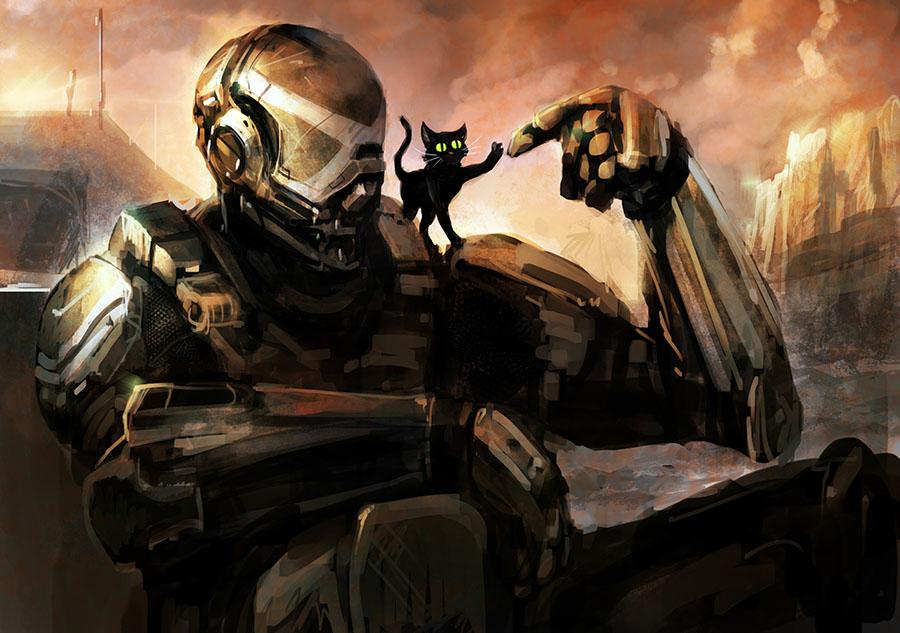 Halo Cat by Morriperkele
