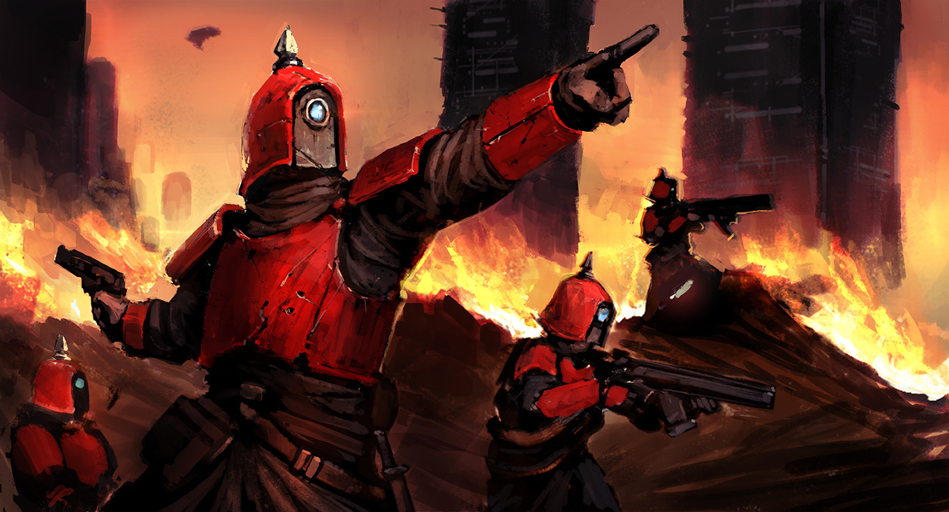 Tox Trooper Squad by Morriperkele