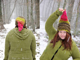 Pointed Knitted Elf Beanie