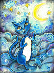 The Moon Cat Blues by MademoiselleOrtie