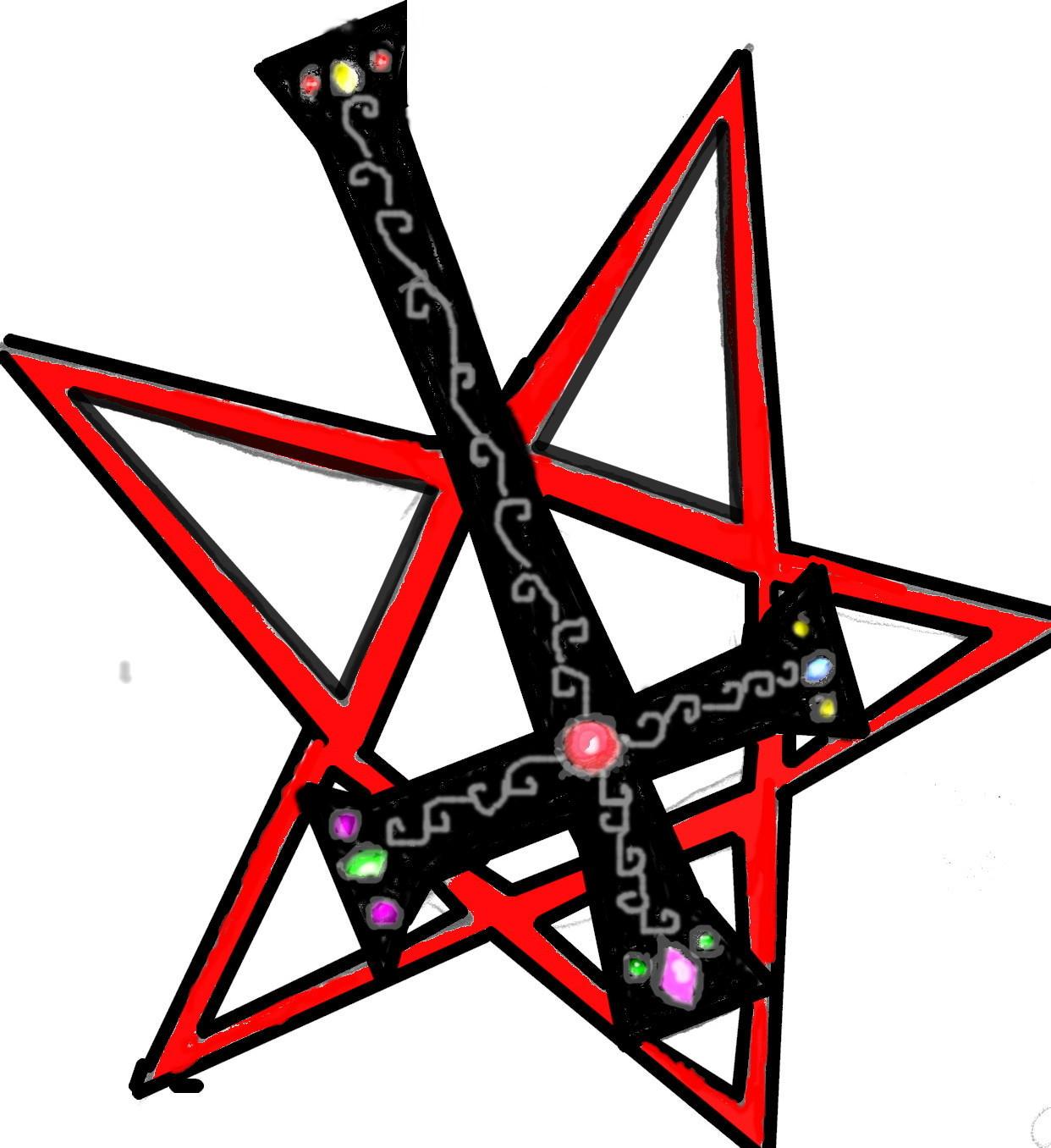 pentagram tattoo by shadowpunkgirl6 on deviantart. Black Bedroom Furniture Sets. Home Design Ideas