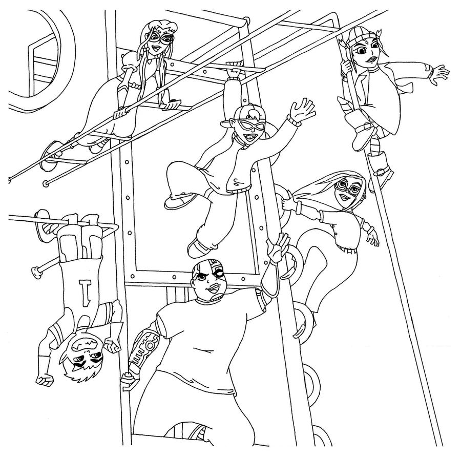 Disneys recess coloring pages - Coldheartedcupid Teen Titans Go To Recess Line Art By Coldheartedcupid Download Image Disney Recess Coloring Pages