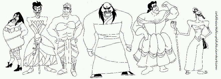 disney villains coloring pages - photo#36
