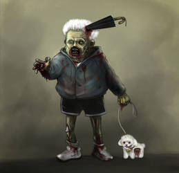 Zombie Poodle by chicharomagico