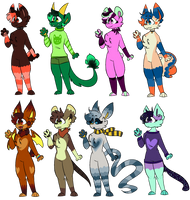 50 Point Anthro Pixel Adopts OPEN (7/8 TAKEN) by Battie-Sweetz