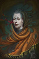 Portrait in dark style by Lyuleo