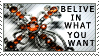 Belive in what you want STAMP by starxdust