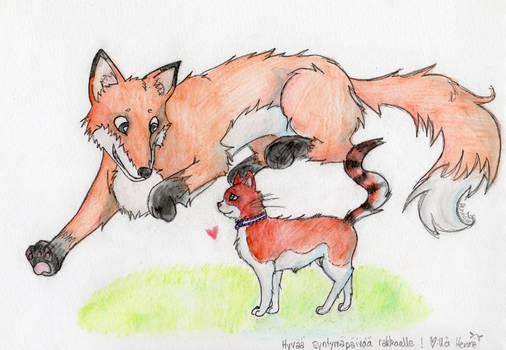 Gift: Fox 'n' kitty