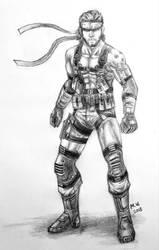 Solid Snake by BakGuiy