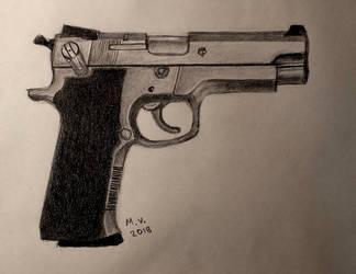 Beretta gun by BakGuiy