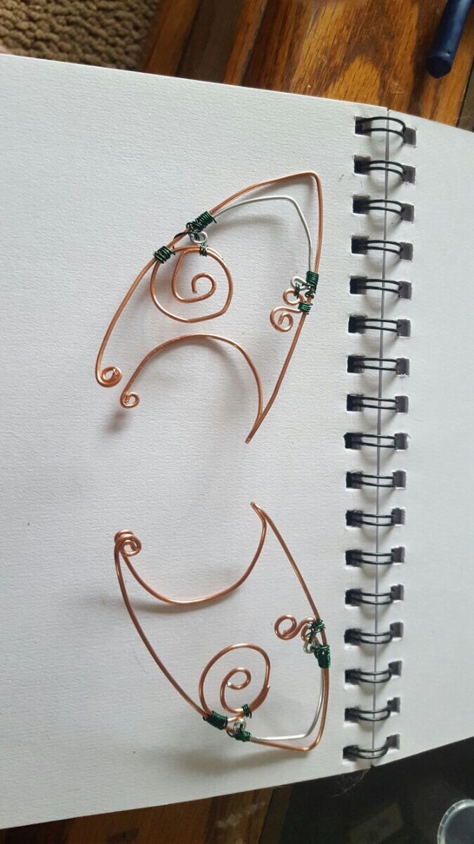 how to put on wire elf ears